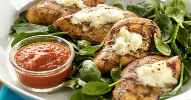 grilled-chicken-red-pepper-sauce-Netmarkers