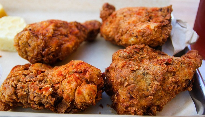 Fried Chicken with Mango–Red Chile Honey-Netmarkers