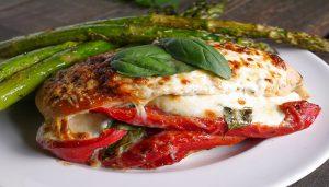Red Pepper, Mozzarella, and Pepperoni-Stuffed Chicken Recipe-Netmarkers
