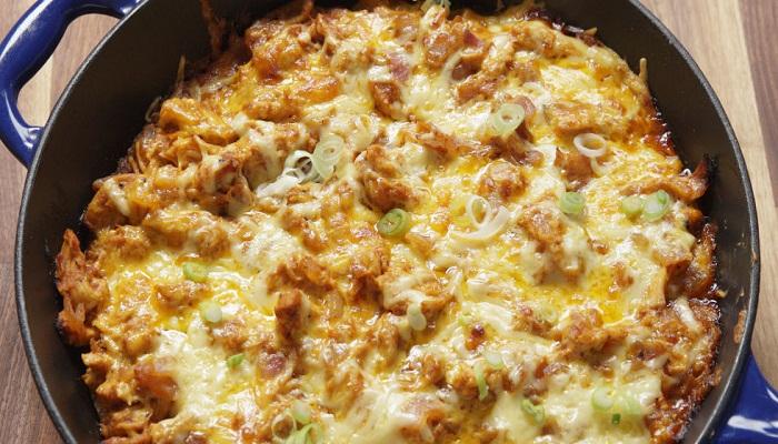 BBQ Chicken Cornbread Skillet Recipe-Netmarkers