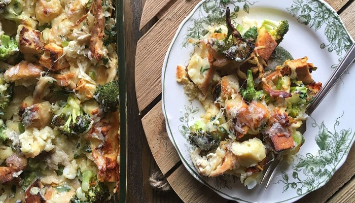 Broccoli and Chicken Strata-Netmarkers