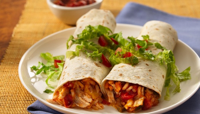 Chicken-Rice-Burritos-Recipes-Netmarkers