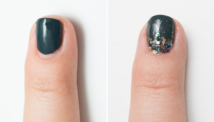Hide-a-bad-manicure-with-glitter-effect-Netmarkers