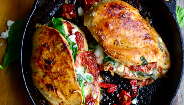 Sundried Spinach, Tomato and Cheese Stuffed Chicken-Netmarkers