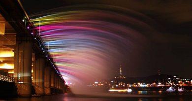 Banpo Bridge Rainbow Fountain, South Korea netmarkers