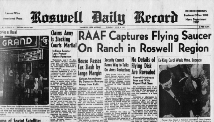 Roswell, 1947 netmarkers