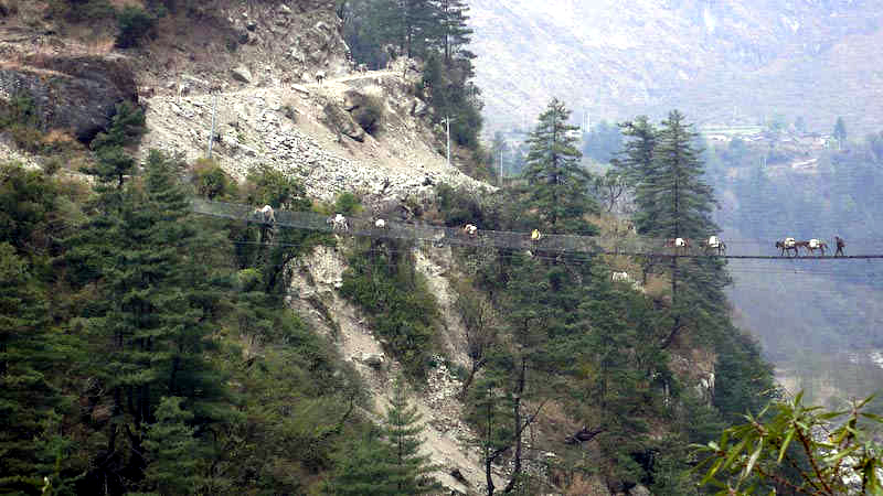 Hanging Bridge Of Ghasa-netmarkers