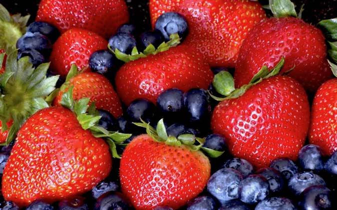 Strawberries and Blueberries-netmarkers