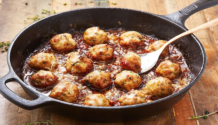 Chicken Meatballs With French Onion-Netmarkers