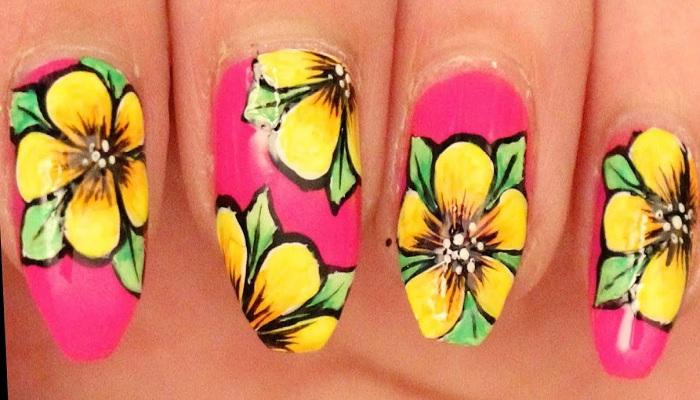 Groovy petals nail art-Netmarkers
