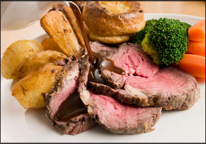 10 Traditional Food To Try In London - Sunday-Roast-And-Yorkshire-Pudding - NetMarkers