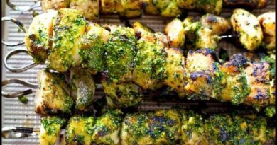 Grilled Pesto Chicken Kababs Recipe For All Chicken Lovers - NetMarkers